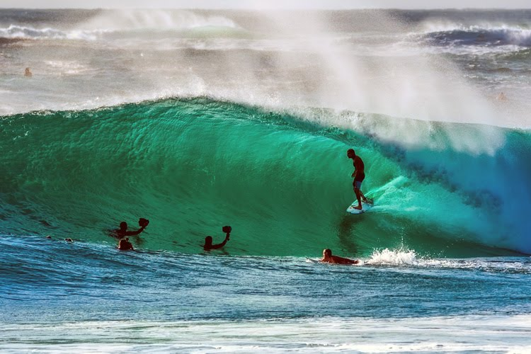 Surfing: getting barreled boosts your mood